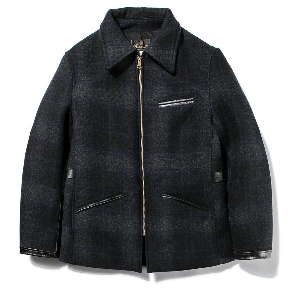 Wool Check Jacket [Navy Check]