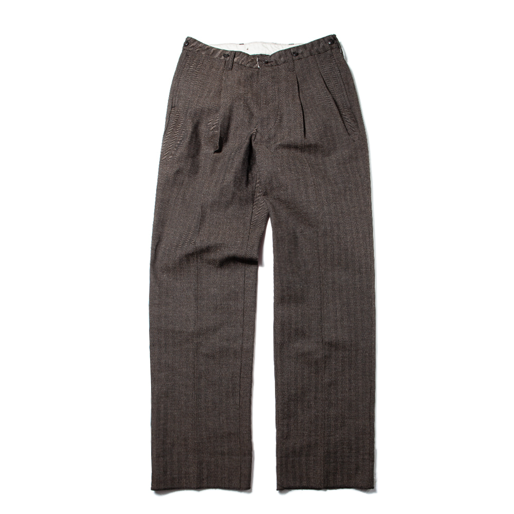 40s HBT TROUSERS [DARK BROWN]