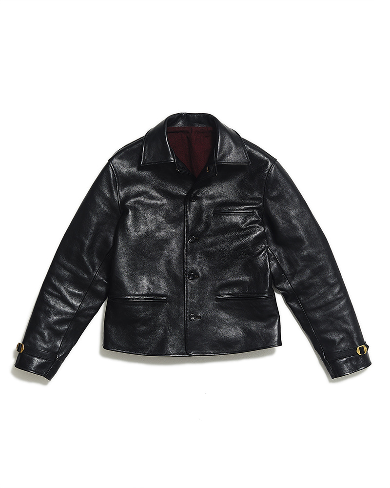 (Pre Order 01.07 ~ 01.24) TAILORED MOTORCYCLE JACKET [Black Horsehide]