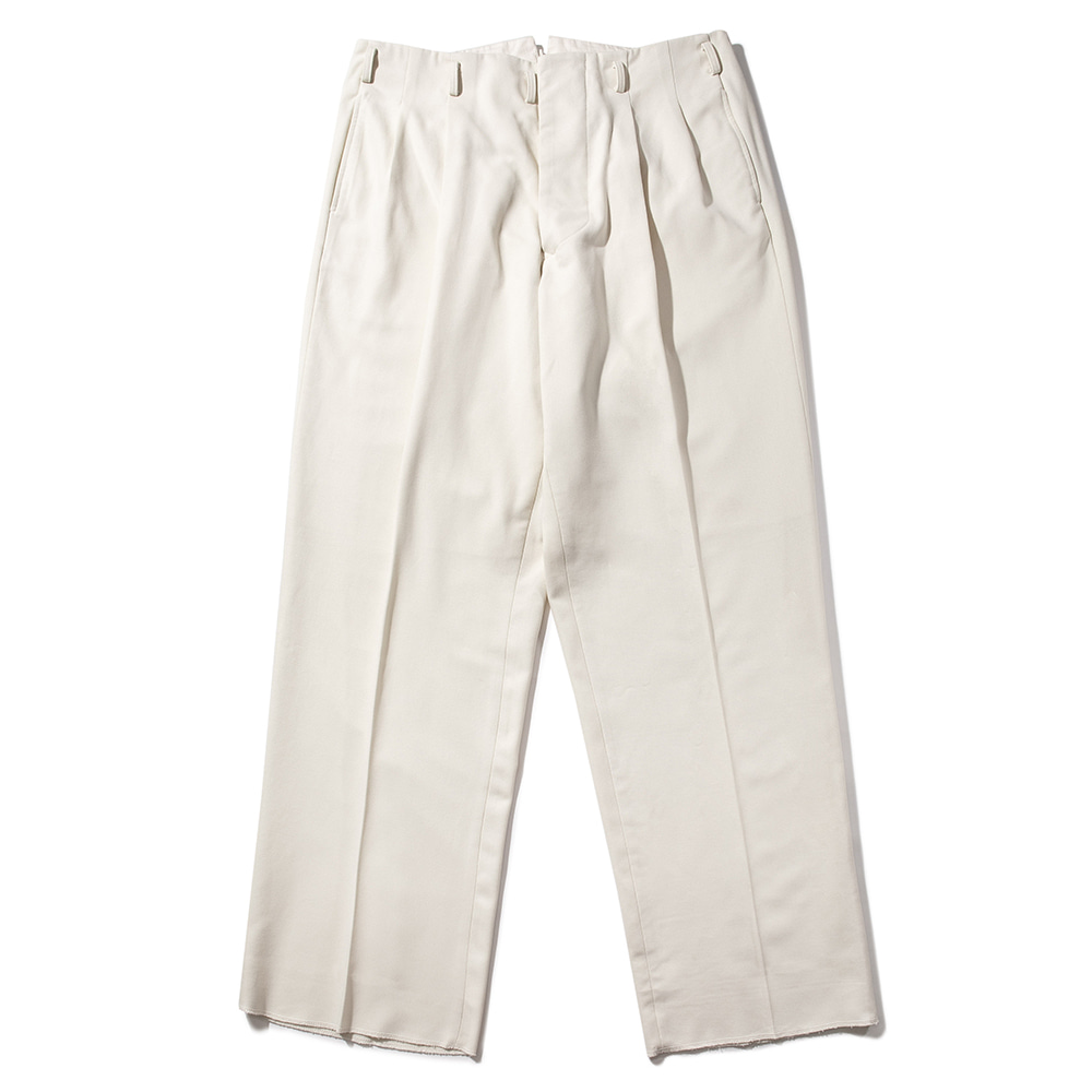 WIDE LEG TROUSERS [TAILORED STYLE] [CREAM]