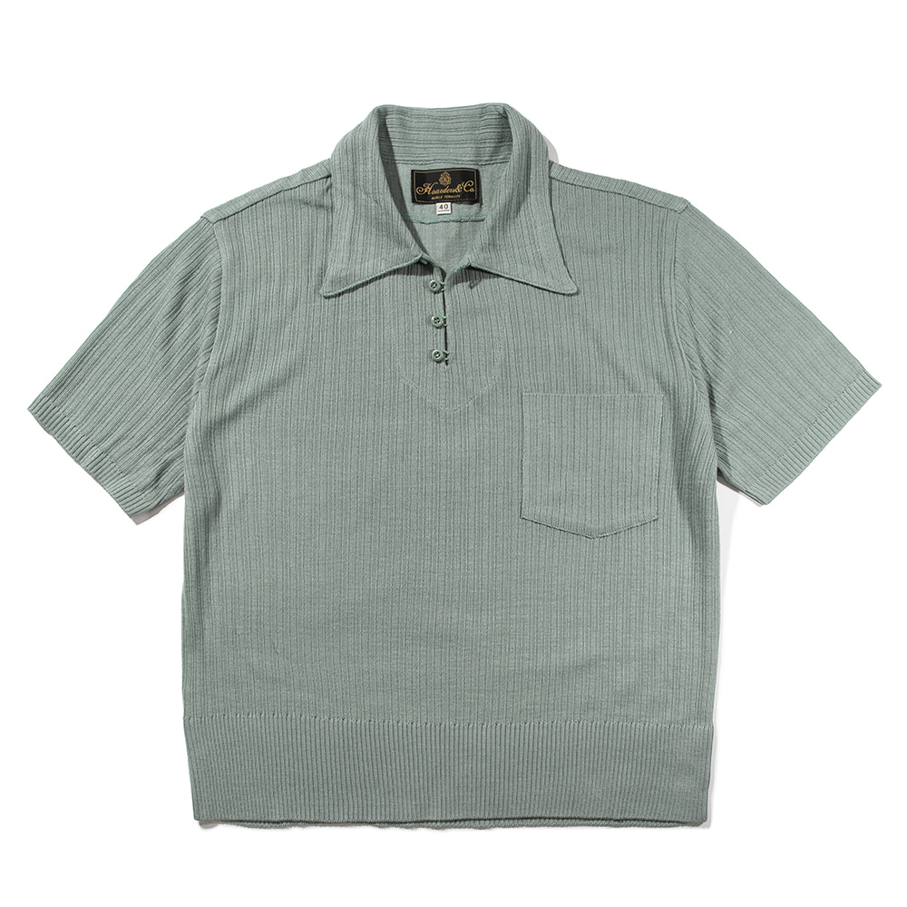RIB POLO SHIRT [SEA GREEN]